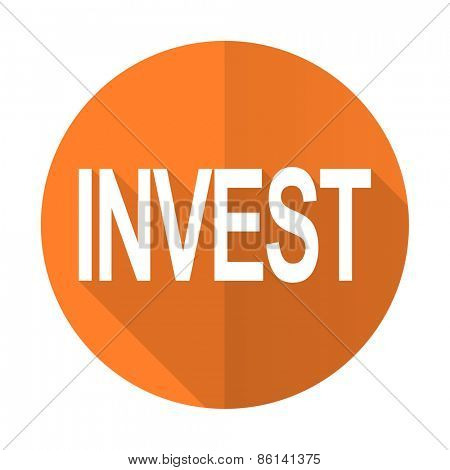 invest orange flat icon