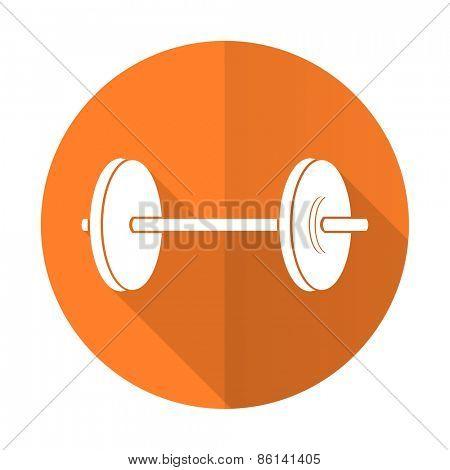 fitness orange flat icon