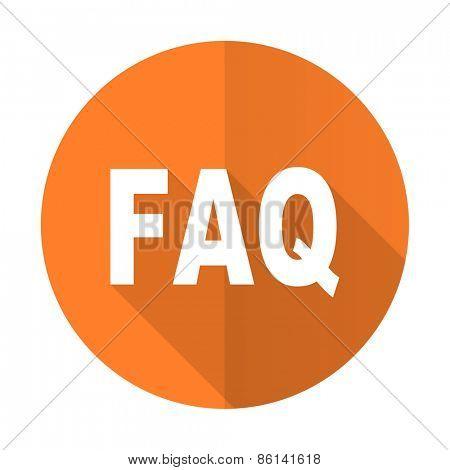 faq orange flat icon
