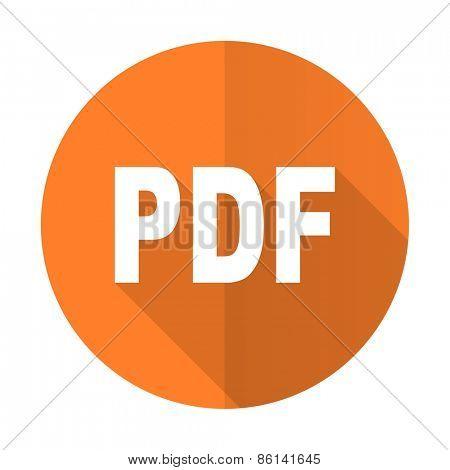 pdf orange flat icon