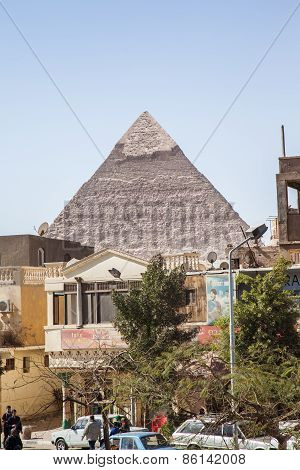View Of The Pyramids In Cairo