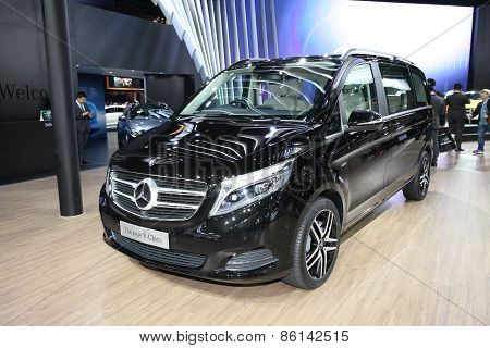 BANGKOK - MARCH 25:Mercedes benz The New V-Class car on display at The 36 th Bangkok International M