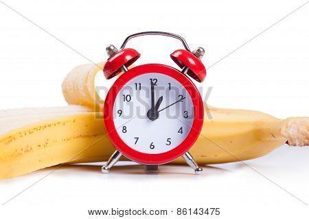 Alarm Clock And Banana