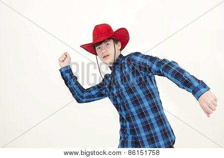 Teenager Cowboy Lasso