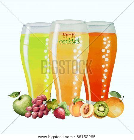 Fruit Drink In Glasses
