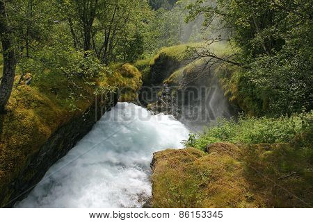 Rough River Among The Rocks