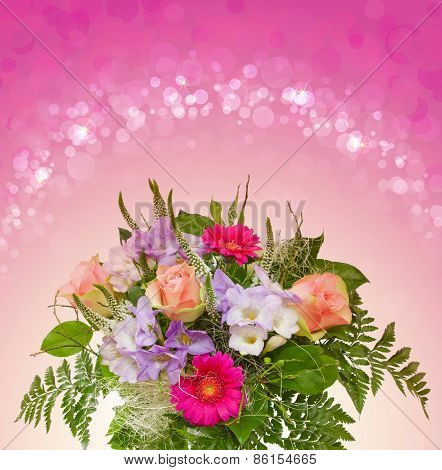 Colorful Rose Bouque