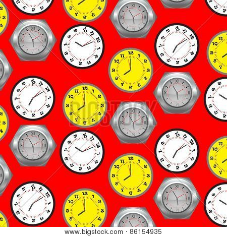 Seamless Pattern Clock