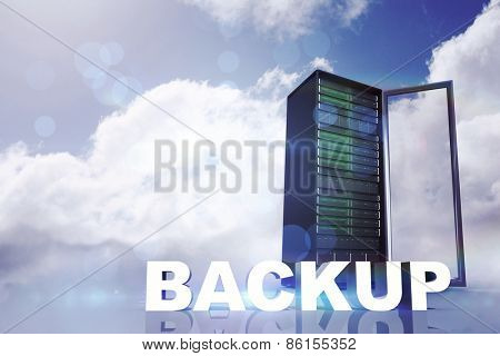 backup against blue sky with clouds