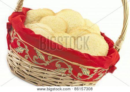 Basket Full Of Christmas Sugar Cookies