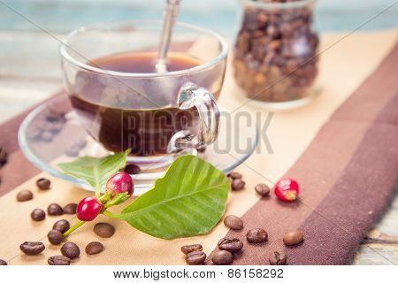 Coffee With Raw Coffee