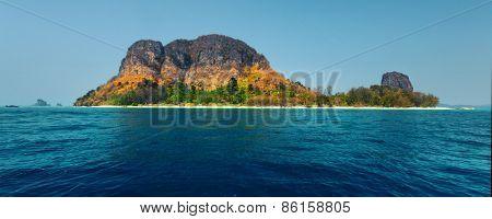 Tropical island and blue sea. Thailand