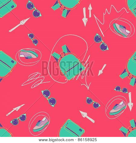 Fashion colorful accessories pattern