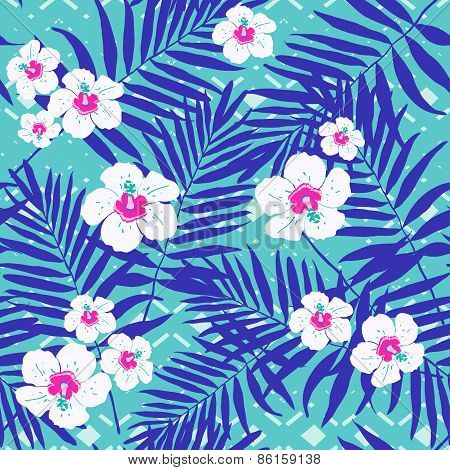 Seamless jungle floral pattern