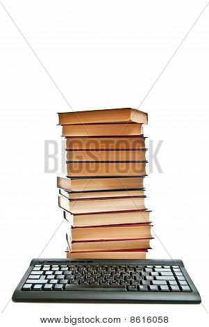 Isolated Books And Keyboard