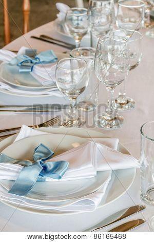Stylish Table Arrangement For Wedding Celebration