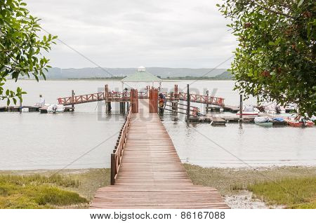 Pier In The Knysna Lagoon At Belvidere