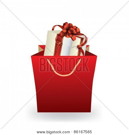 Gift in a shopping bag