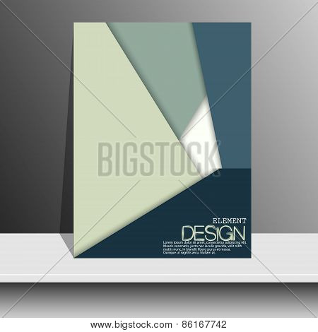 Magazine Cover with curved lines, dotted lines and black dots. Modern flat design. Art objectklet, p