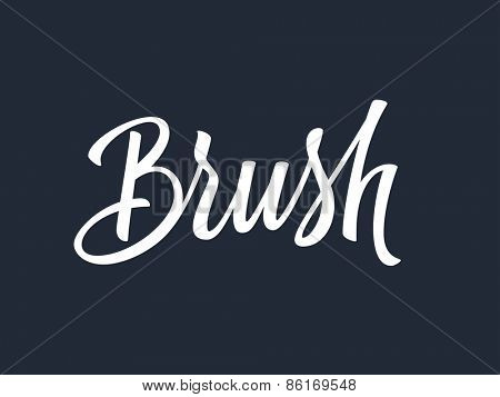 Brush handwritten lettering. Vector illustration