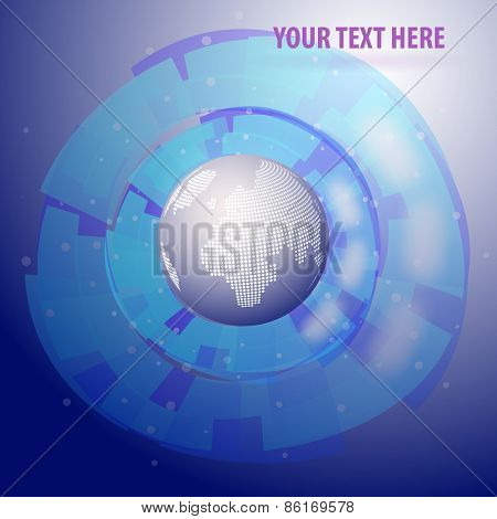 Abstract Colorful Artistic Background Concept with Spotted Digital Earth Globe