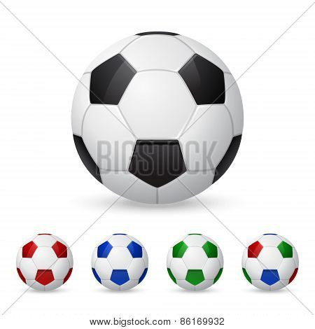 Set Of Vector Soccer Balls