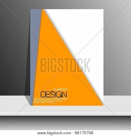 Magazine Cover with curved lines, dotted lines and black dots. Modern flat design. Art object presen