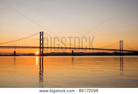 Sunset at the Forth Road Bridge