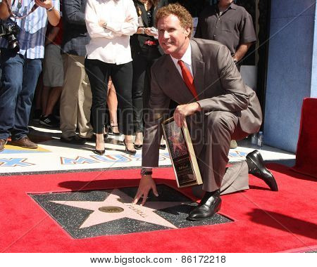 LOS ANGELES - MAR 24:  Will Ferrell at the Will Ferrell Hollywood Walk of Fame Star Ceremony at the Hollywood Boulevard on March 24, 2015 in Los Angeles, CA