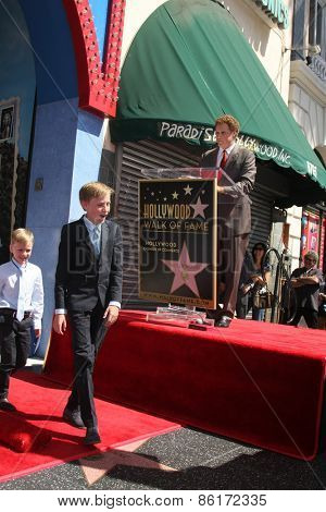 LOS ANGELES - MAR 24:  Will Ferrell, sons at the Will Ferrell Hollywood Walk of Fame Star Ceremony at the Hollywood Boulevard on March 24, 2015 in Los Angeles, CA