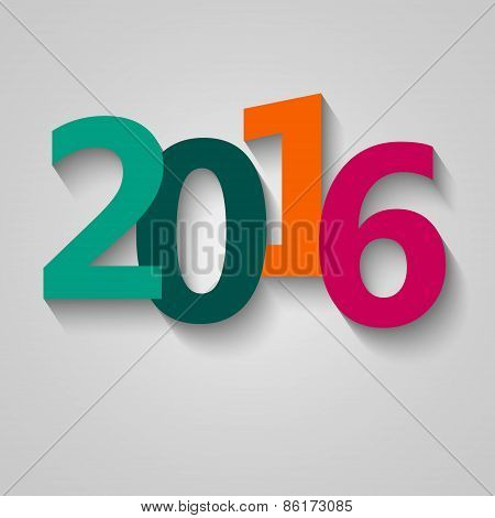 Happy new year 2016  greeting card design stock vector