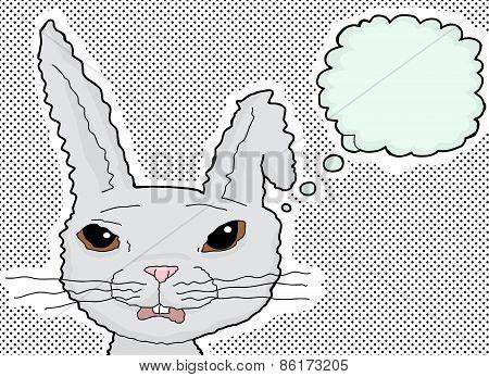 Shocked Rabbit Thinking