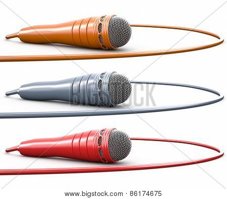 Set Of Isolated Microphones, 3D