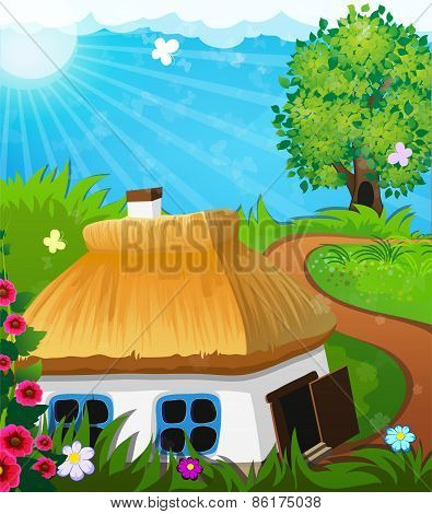 Rural Landscape With A House
