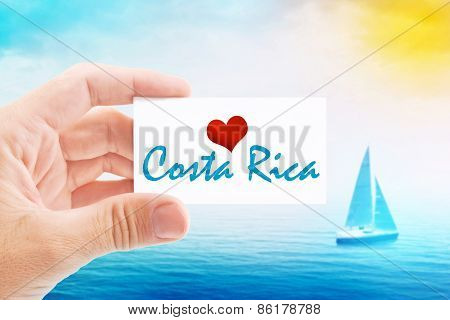 Summer Vacation On Costa Rica Beach