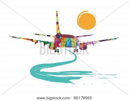 airplane silhouette