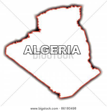 Outline Map Of Algeria