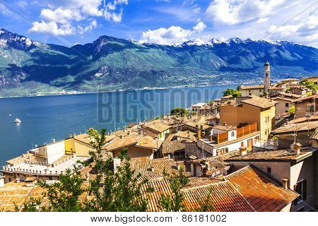 scenery of northen Itlay - Limone,  Lago di garda