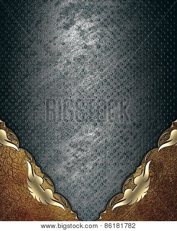 Abstract Template For Design. Grunge Pattern Plates With Metal Corners