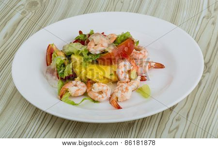 Shrimps With Aloe Vera Salad