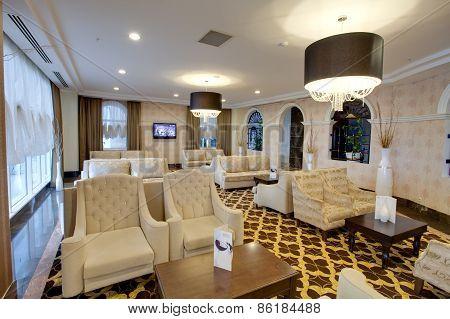 Apartment luxury interior.