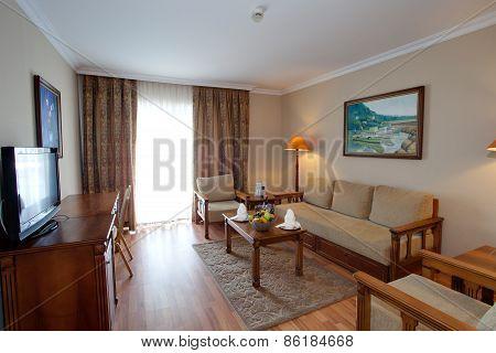 Luxury interior in residential complex