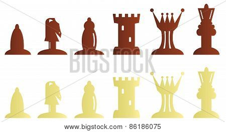 Chess pieces bitmap illustration