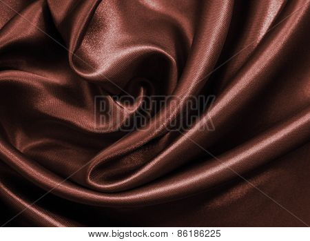 Smooth Elegant Dark Brown Chocolate Silk As Background