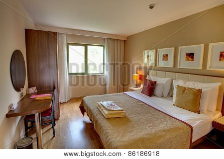 Interior of cozy living room in residential complex