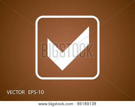 Flat icon of check box