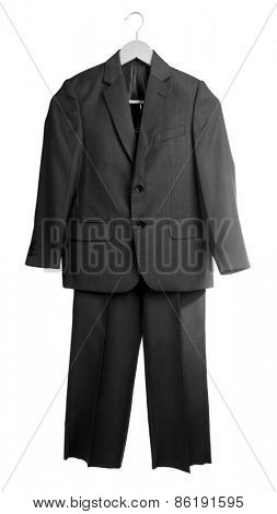 School uniform jacket and trousers, isolated on white