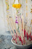 image of graveyard  - joss stick pot at the graveyard - JPG