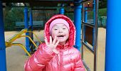 image of playgroup  - Portrait of beautiful girl on the playground - JPG