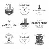 pic of barber  - Vector retro barber shop label - JPG